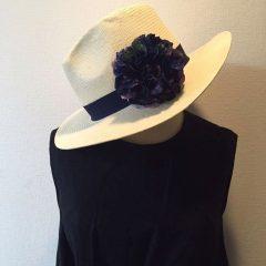 帽子のコサージュ_6