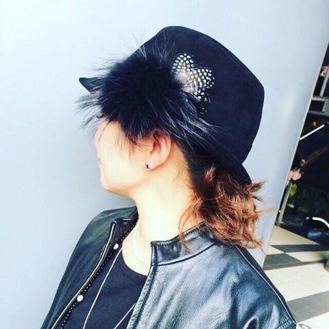 帽子のコサージュ_3